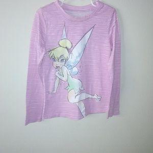 Disney kids girls tinkerbell long sleeve shirt S